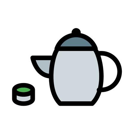 Calming Green Tea  イラスト・ベクター素材