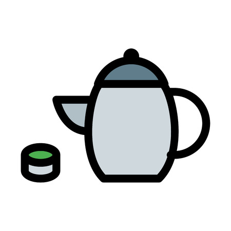 Calming Green Tea Illustration