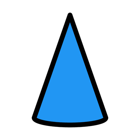 Conic Diagram Shape Stok Fotoğraf - 116220388