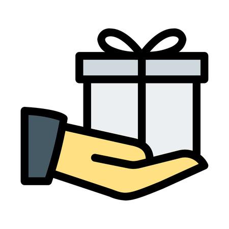 Giving Birthday Gift Ilustrace