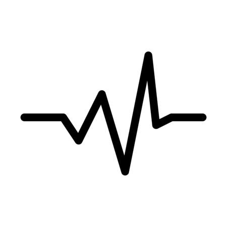 Audio Wave Graph Ilustração