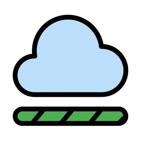 Cloud loading bar Çizim