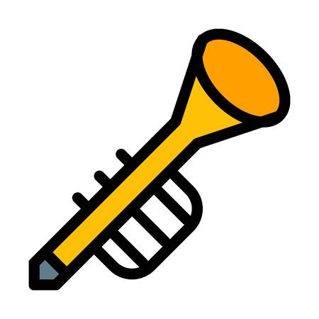 Trumpet Blow Instrument Banque d'images - 125722212