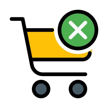 Online shopping blocked Illustration