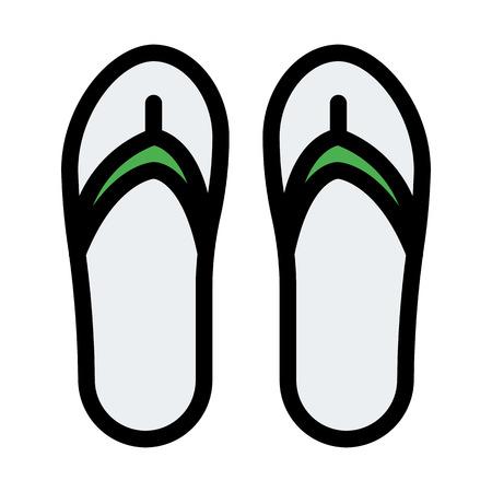 Casual Flip-Flops Pair  イラスト・ベクター素材