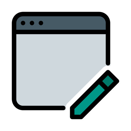 Edit Web Application Stock Illustratie