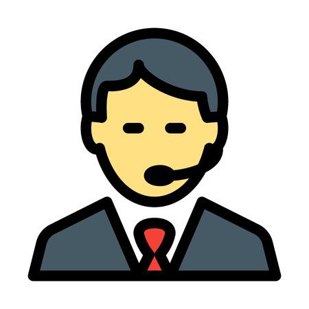 Dispacher Male Agent Stockfoto - 125722259