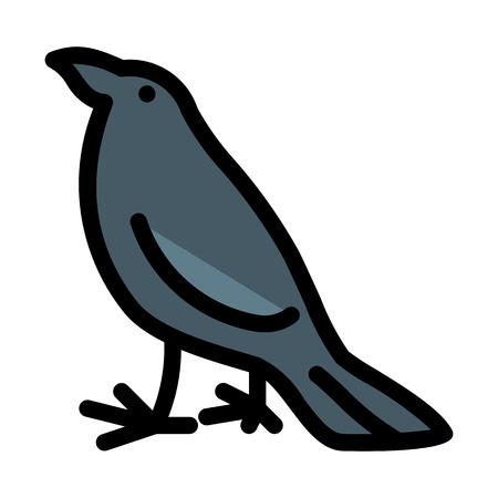 Scary bird crow