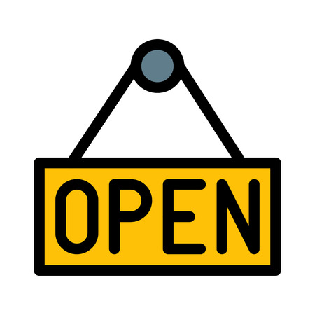 Store open banner Çizim