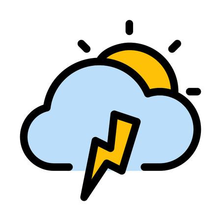 Cloudy Thunderstrom day Çizim