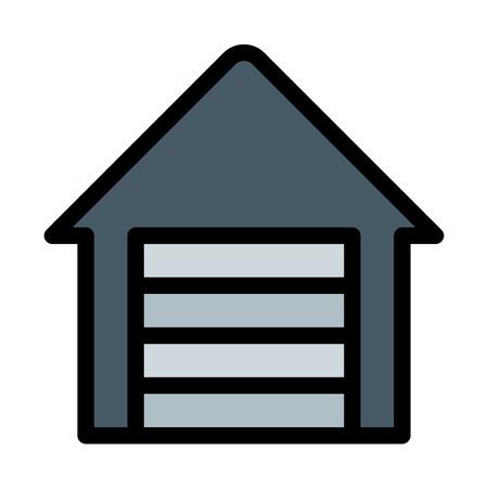 House Storage Shutter Illusztráció