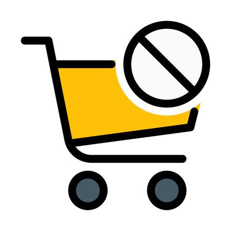 Invalid or Dismiss Cart Vektorové ilustrace