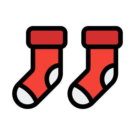Winter Sock Pair Иллюстрация
