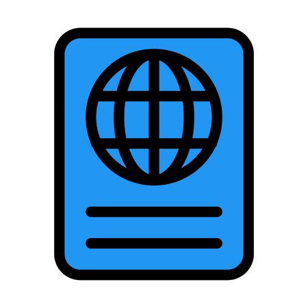 Internation Travel Passport 向量圖像