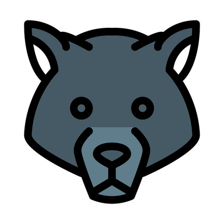 Wolf, Dangerous Animal Illustration