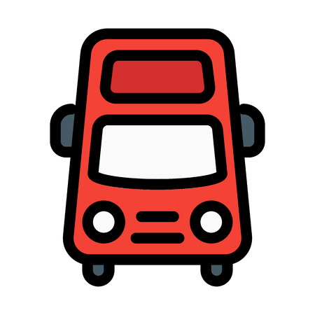 Tourist Travel Bus Иллюстрация