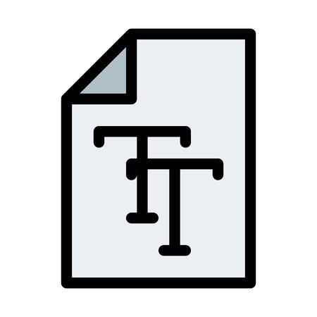 Truetype Font File Ilustração