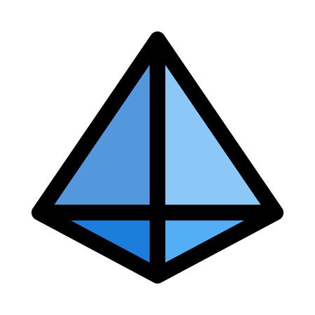 tetrahedron - triangular pyramid Иллюстрация