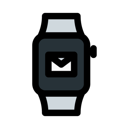 email notification on smartwatch Illustration