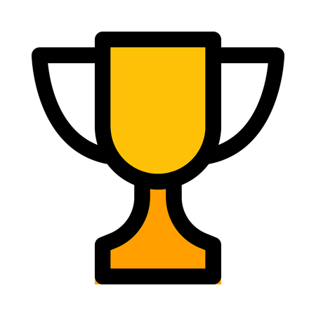 championship winner trophy Ilustrace