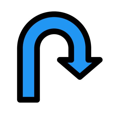 turn back arrow Illustration