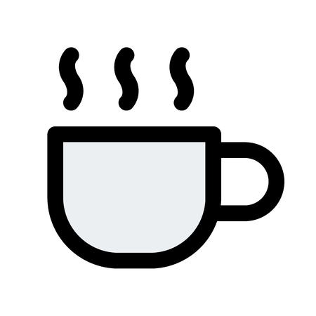 steaming hot tea 向量圖像