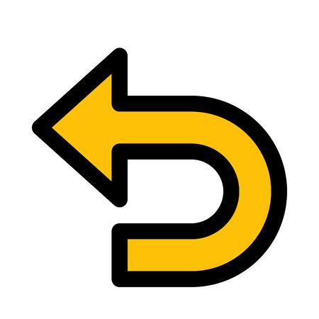 undo symbol arrow Illustration