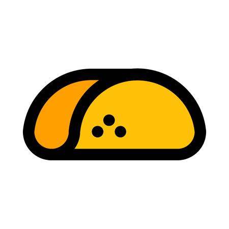 folded taco shell 矢量图像