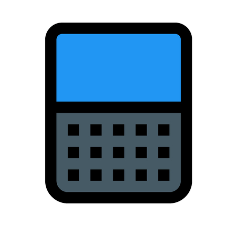 illustration phone keypad