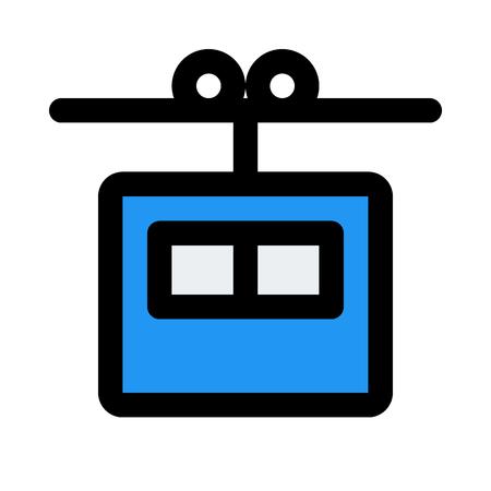 gondola lift icon on isolated background Иллюстрация