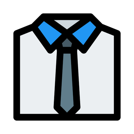 shirt with tie Illustration