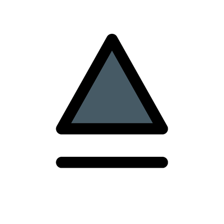 eject button symbol Illustration