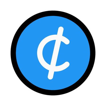 cent currency symbol Иллюстрация