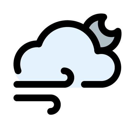 cloudy wind night 矢量图像