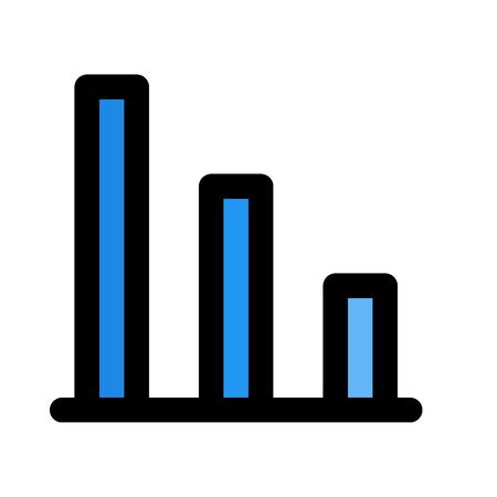 vertical down bar chart