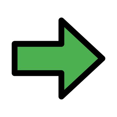 arrow right indication