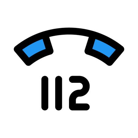 emergency telephone number 向量圖像