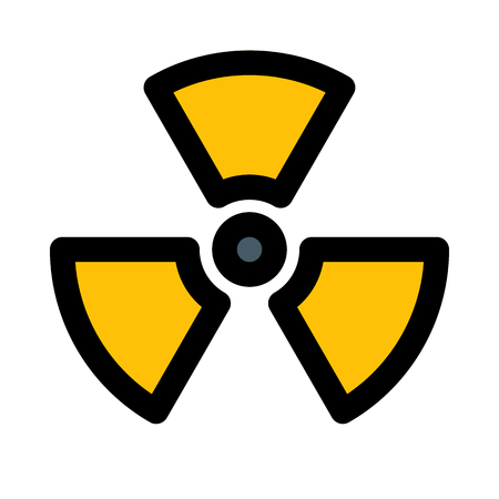 Radioactive radiation symbol