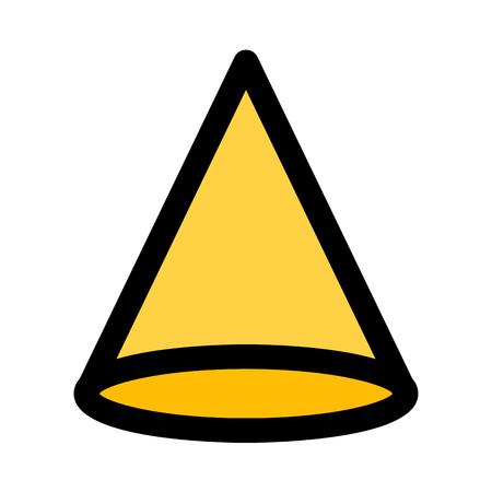 cone geometric shape Illustration