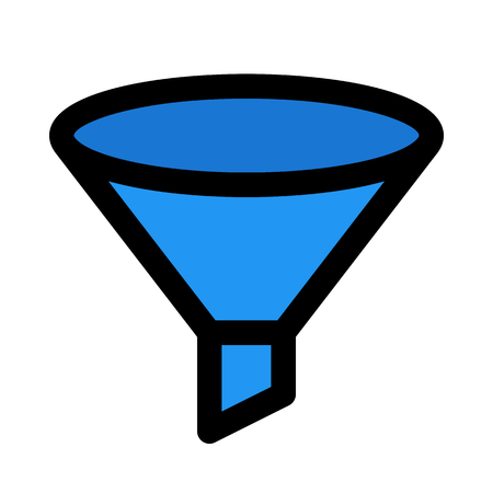 Funnel filter isolated
