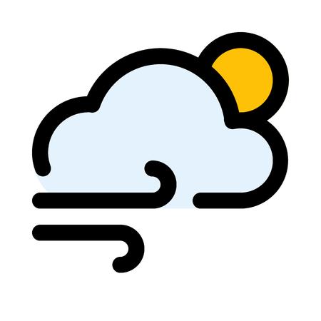 cloudy wind day 矢量图像