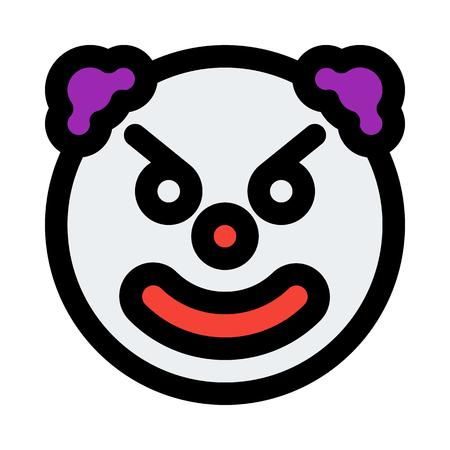 angry clown emoticon  イラスト・ベクター素材