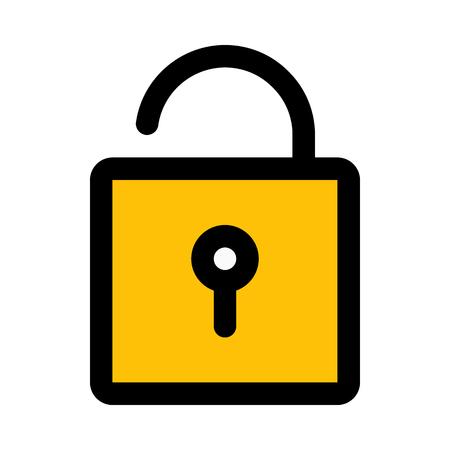 Open door padlock
