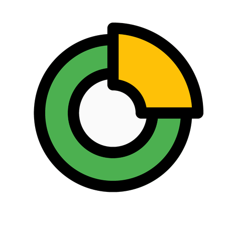 quarter doughnut chart