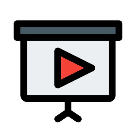 Videopräsentation auf isoliertem Hintergrund