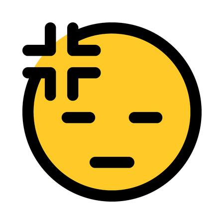 very tired emoji Illustration