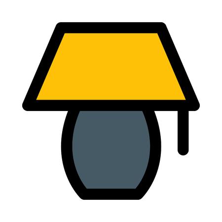 desk lamp isolated on white background