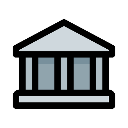 bank building or institution Illustration