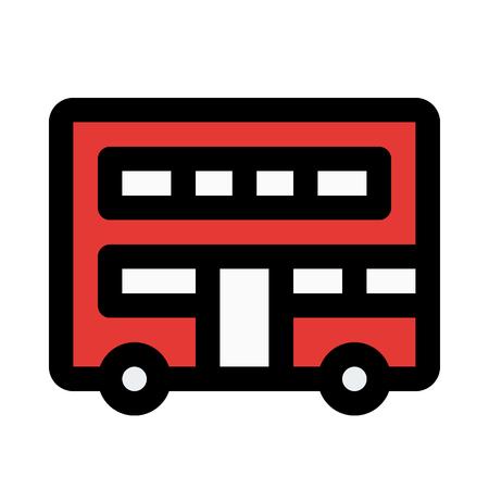 double-decker bus Illustration