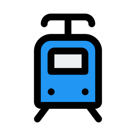 electric train icon on isolated background